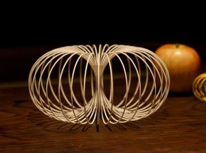 3D-printed nylon plastic torus