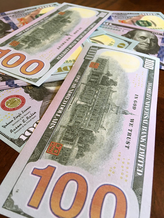 Usd Hell Note For Manifesting And Money Drawing Easy Burn Joss